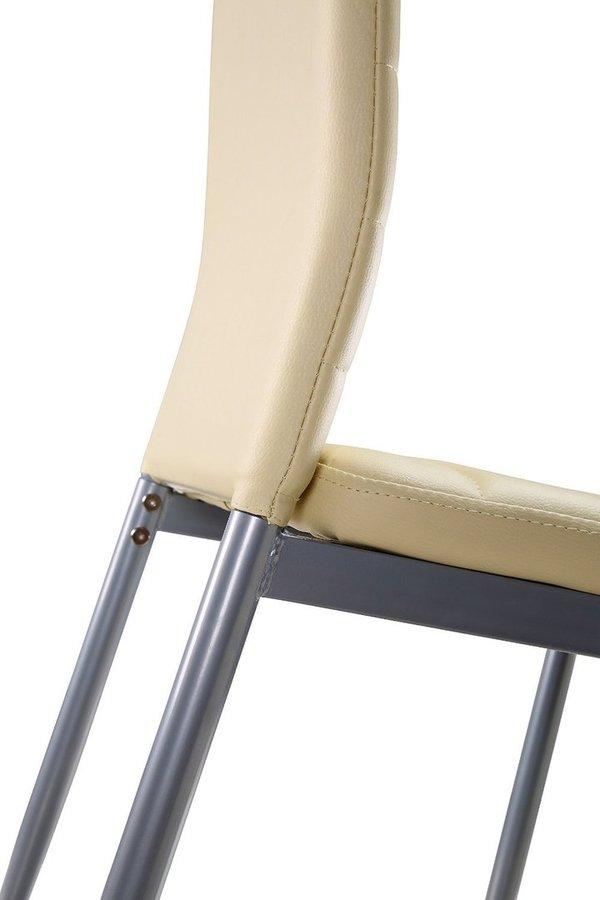Lot De 4 Chaises Design En Simili Cuir BEIGE