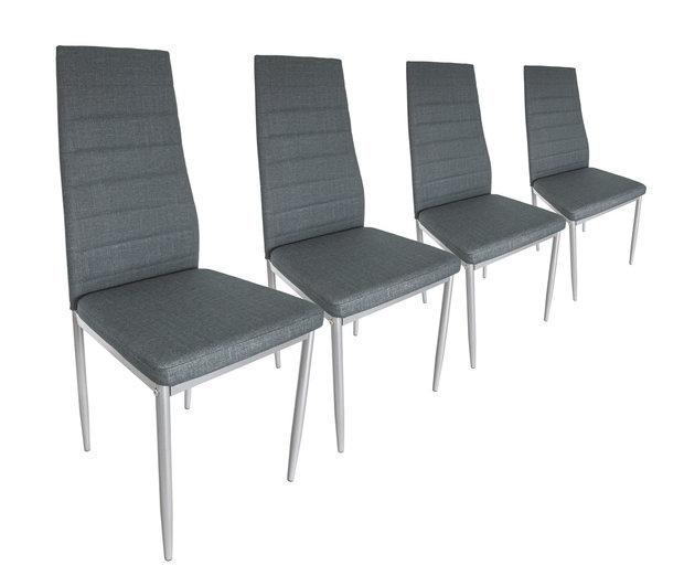 lot de 4 chaises en simili cuir diff rents coloris. Black Bedroom Furniture Sets. Home Design Ideas