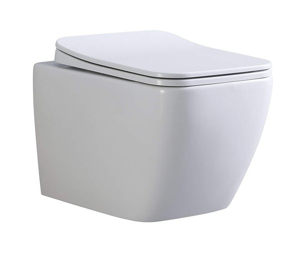 CUBE - WC suspendu design (sans bâti-support) + abattant soft close